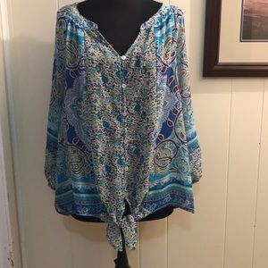 Paisley and Floral Blouse.